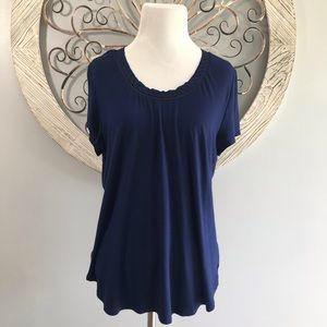 Deletta Anthropology Top Size Large. Navy